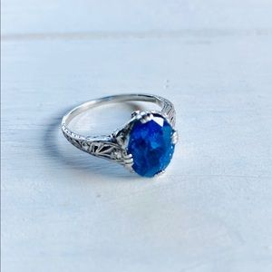 4ct Platinum Unheated Color Change Sapphire Ring